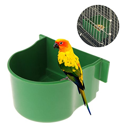 Vivianu Vogelfutterstation für Papageienkäfig Kunststoff Tauben-Trinkschale Gerät