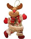 CMTOP Decorazioni per Albero di Natale Natalizia per Albero di Natale Ciondolo Bambola di Natale Ciondolo in Stoffa Danzante Bambola Pupazzo di Neve Peluche Regalo Buon Natale Ciondolo Ornamenti