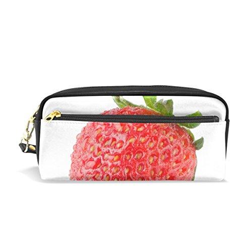 FANTAZIO - Estuche para lápices, diseño de fresas, bolsa de maquillaje de...