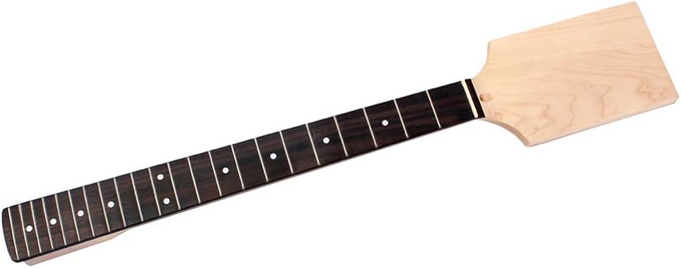 Holibanna 22 Frets Premium Dot Incrustado Freetboard Guitarra Cuello Práctico Cabezal de Paleta sin Terminar DIY Piezas de Repuesto para Guitarra Eléctrica