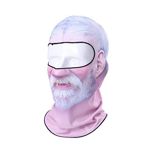 Balaclava Hut 3D Bart clown Alt heren grappig masker gezicht motorfiets skiën snowboard hoed helm voering biker volgezicht schild cap heren