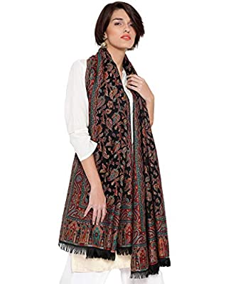 "Weavers Villa Women's Pashmina Wool Kani Weave Shawls, Wraps [Size: 40"" X 80""]"