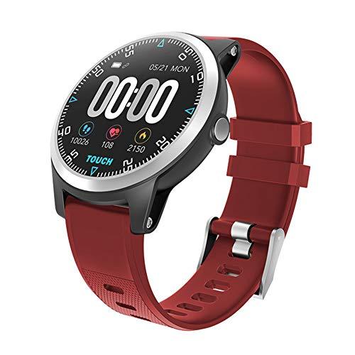 ZYD Bluetooth Smart Watch EKG PPG Double Heart Rate Monitor Sport wasserdichte Intelligente Uhr Fitness Tracker-Armband,Rot