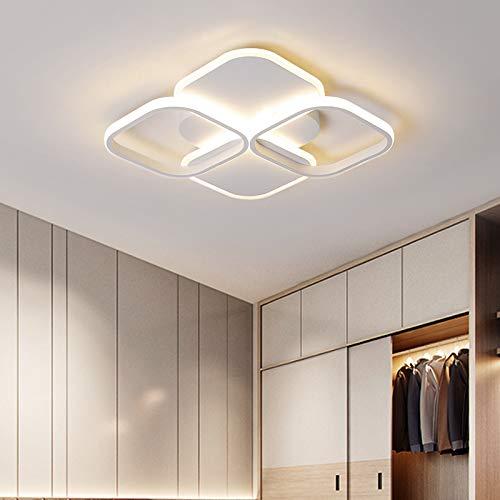 BFMBCHDJ Araña para sala de estar Dormitorio decoración para el hogar Blanco Negro Lustre Moderno LED Lámparas de techo Iluminación para el hogar Dia40x6cm 34W Blanco frío