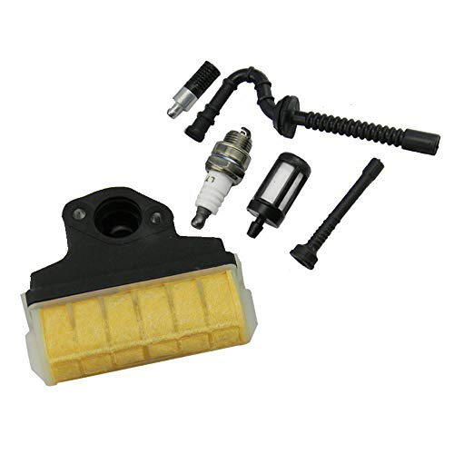 Filtro de aire TF + bujía + manguera de aceite de gasolina para motosierras Stihl 021 023 025 MS210 MS230 MS250