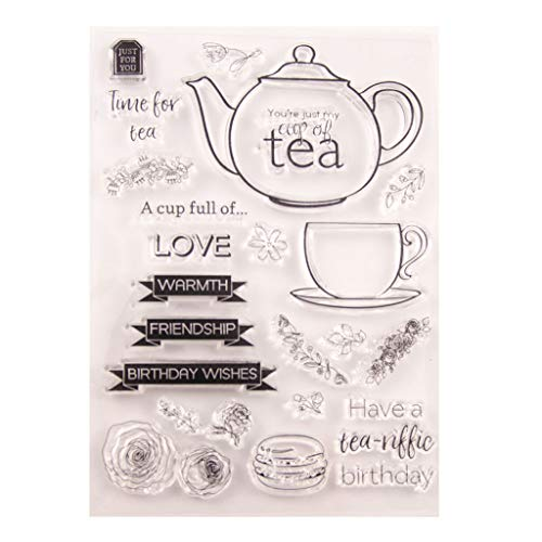 Tea Silicone Clear Seal Stamp DIY Scrapbooking Embossing Photo Album Decorative Paper Card Craft Art Handmade Gift