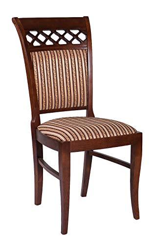Möbel Gregor Esszimmerstuhl aus Holz Wohnzimmerstuhl Stuhl Stühle KR-102 (KIRSCHBAUM)