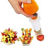 Strumento in plastica per tagliare frutta e verdura con forme diverse, per cucina creativa...