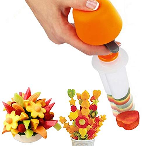 Strumento in plastica per tagliare frutta e verdura con forme diverse, per cucina creativa, set di utensili per decorazioni fai da te per cucina e bar