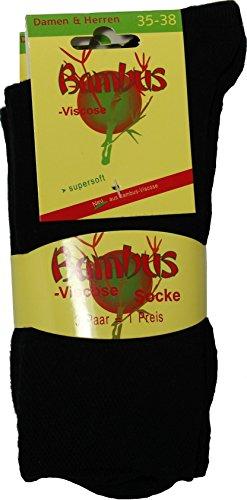 socksPur SOCKS PUR BAMBUS WELLNESS SOCKEN (39/42, 2170-00-BAMBUS: schwarz 3er PACK)