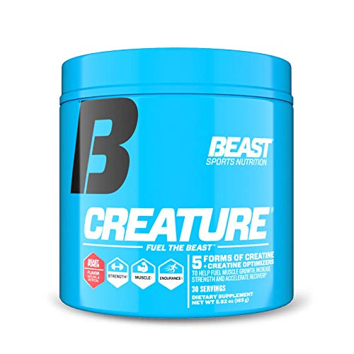 Beast Sports Nutrition – Creature Creatine Complex – Fuel Muscle Growth – Optimize Muscle Strength – Enhance Endurance – Increase Recovery Time – Five Forms of Creatine – Beast Punch 30 Servings