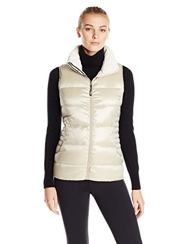 Calvin Klein Performance Women's Down-Filled Quilted Vest with Sherpa Collar