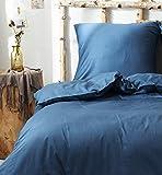 Bettwäsche-Set, Weicher Bettbezug Kissenbezug aus 100% Baumwolle,ägyptisches Extra-Langstapeliges Baumwollbettlaken (Bettbezug 155x220cm+Kissenbezug 80x80cm) außergewöhnlichen Weichheit und Komfort