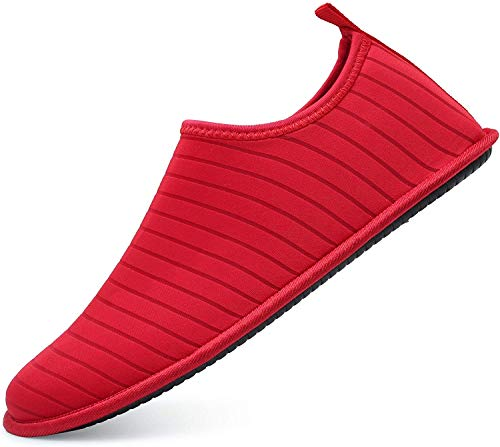adituob Wasser Sportschuhe Aqua Barfuß Socken Pool Strand Schwimmen üben für Damen Herren EU38-39 Rot
