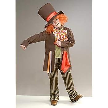 Disfraz de Sombrerero Loco marrón para niños Medium (7-9 Years ...