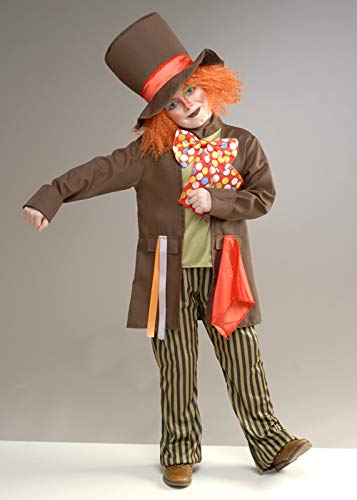 Disfraz de Sombrerero Loco marrón para niños Medium (7-9 Years)