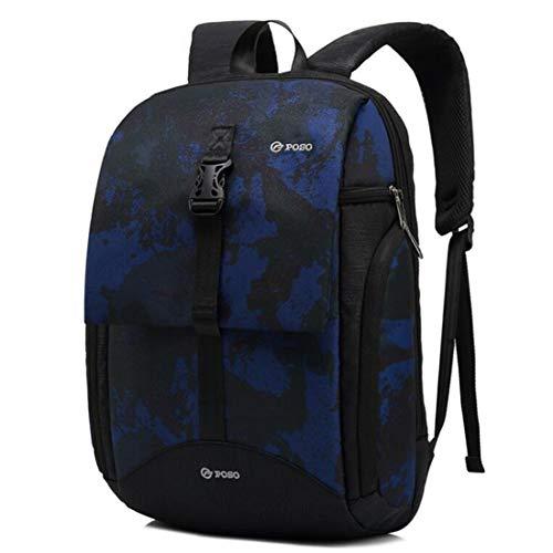 Wayamiaow Trendy Grote laptoprugzak voor dames en heren, camouflagepatroon, voor reizen, bergbeklimmen, paardrijden, tas, Camouflage Blauw