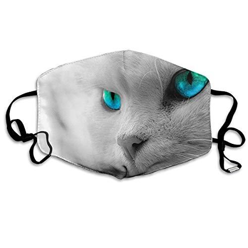 Polyester Anti-Dust Mond Masker - Leuke Hond Puppy Graphic Gewassen Herbruikbare Mond-Muffle - Mode Gedrukte Gezichtsmaskers voor Outdoor Fietsen Eén maat Cool Cat Kop Patroon