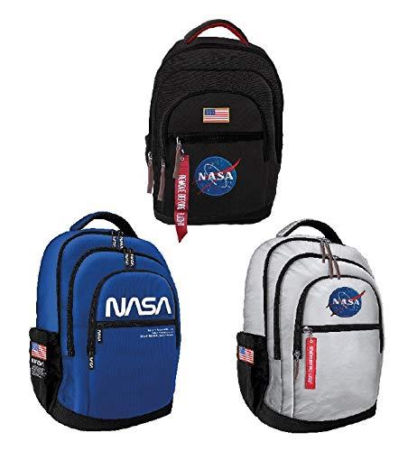 CARTOON WORLD Zaino Americano Scuola e Tempo Libero - NASA - Nero
