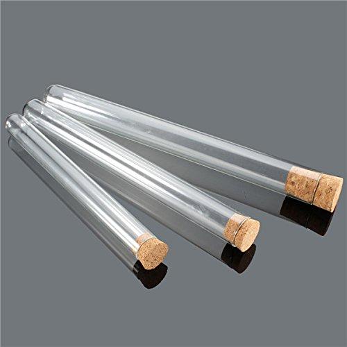 EsportsMJJ 10Pcs Lab Glass Test Tube Avec Bouchon Bouchon 20Ml/35Ml/50Ml - #2
