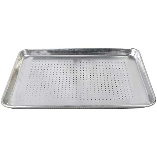 Tiger Chef 1/2 Half Size 18 x 13 inch Perforated Aluminum Sheet Pan Commercial Bakery Equipment Cake Pans NSF Approved 19 Gauge 6 Pack