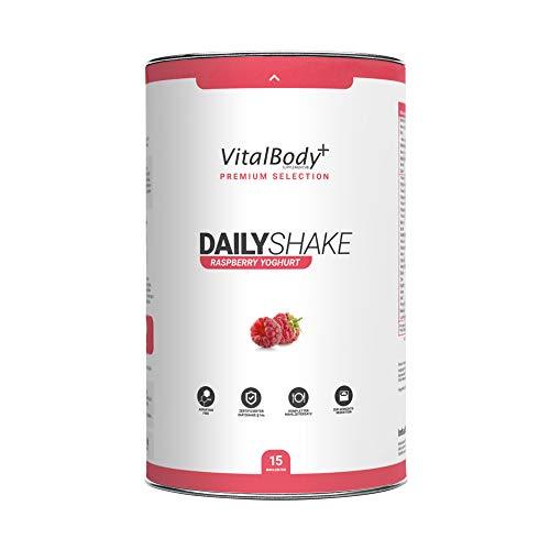 VitalBody+ DAILYSHAKE als Mahlzeitenersatz zum Abnehmen | vollwertiger Himbeere Abnehmshake als Mahlzeitenersatz Shake | zertifizierter Diät-Shake zur Gewichtsabnahme | Deutsche Premium Qualität!