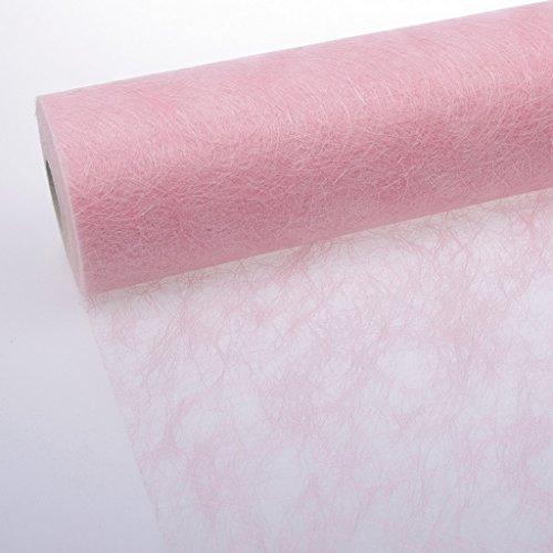Deko und Band Sizoflor Chemin de Table Rose pâle 30 cm-Rouleau DE 25 mètres 60–300–25–033
