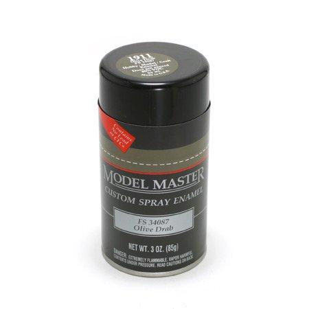 TES1911 Olive Drab Testors Model Master Enamel Spray Paint 3 oz can