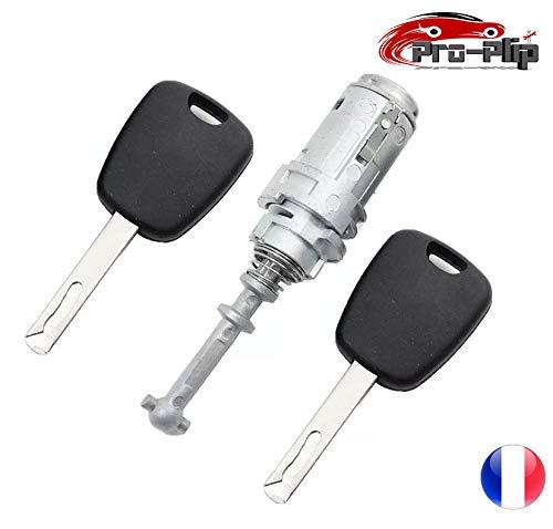 Pro-Plip Schlüsselset + Zylinder für linke Vordertür, Citroen C2 C3 C3 Plus, 2 Schlüssel