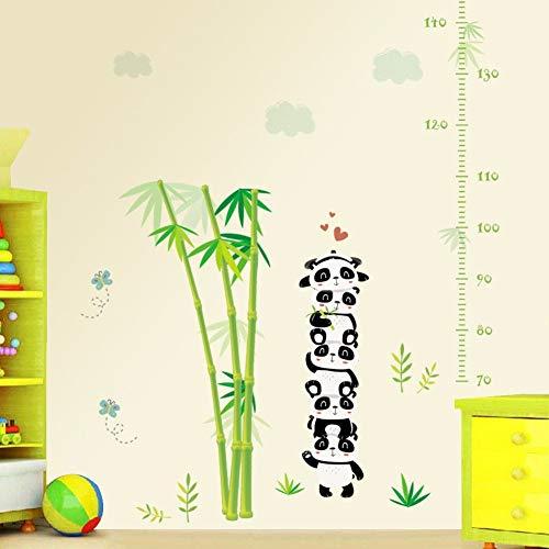 Runinstickers Muurstickers Chinese panda bamboe hoogte Messen Chart Muursticker Kinderkamer Kinderkamer Decor Afneembare milieuvriendelijke vinyl Decals