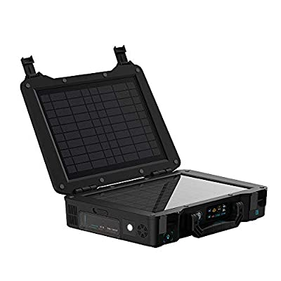 Renogy 300Wh Phoenix Elite Portable Generator, Built-in 20W Panel&Lithium, 100W External Solar Lithium Backup Power with AC/DC Outlet, Outdoor, Camping, RV, Emergency use