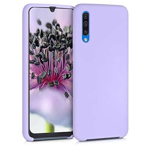 kwmobile Cover Compatibile con Samsung Galaxy A50 - Custodia in Silicone TPU - Back Case Protezione Cellulare Lavanda