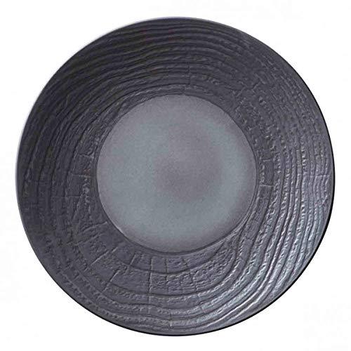 Visiodirect Lot de 2 Assiettes Plates Revol Abro réglisse - 31 cm