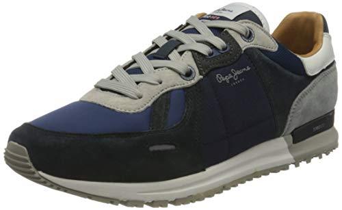 Pepe Jeans Tinker Pro 309 Plus, Zapatillas Hombre, Azul Marino, 44 EU