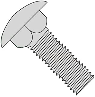 A307 Steel Hot Dip Galvanized Full Thread 1//4-20 X 1-1//4 Round Head Carriage Bolts Square Neck 1000 pcs