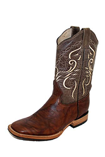 Botas Cowboy mexicanas de Piel para Hombre, Modelo Jorge, 43