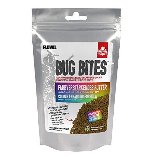 Fluval Bug Bites Alleinfutter für Süßwasserfische, farbverstärkendes Futter, M-L, 1er Pack (1 x 125 g)