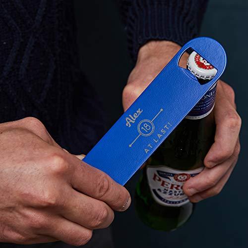 Personalisiertes Bar Blade - Flaschenöffner Kapselheber - Geburtstagsgeschenk für ihn - 18. Geburtstag - Barzubehör - Haus- Kellerbar - Bierliebhaber Geschenk mit Gravur - 4 Farben mit Namensgravur