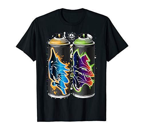 Graffiti Fat Cap Spray Paint Cans - The Pillars of Urban Art T-Shirt