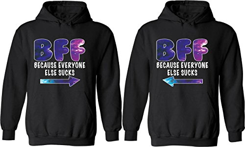 BFF Because Everyone Else Sucks - Matching Couple Hoodies - Best Friend Forever Sweaters