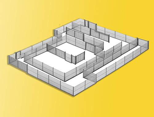 Kibri 38605 - Maschendrahtzaun, grau