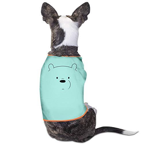 Jiaojiaozhe We Bare Bears IJsbeer Huisdier Service Huisdier Kleding Grappige Hond Kat Kostuum Tshirt Sky Blauw, L, Blauw