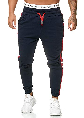 OneRedox Herren Jogging Hose Jogger Streetwear Sporthose Modell 1211 (M, Navy)