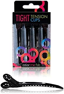Framar Black Tight Tension Clips - Set of 4 Professional Hair Clips - Extra Tight & Durable