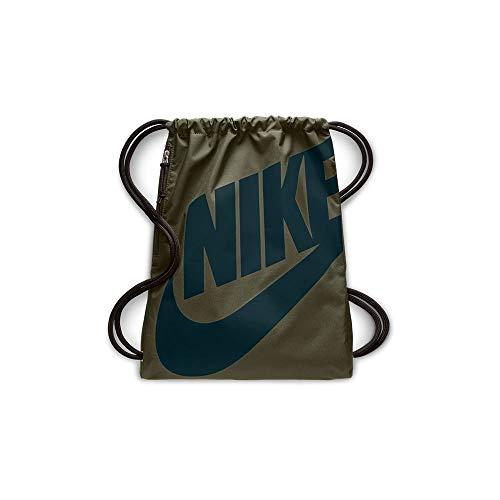 Nike Unisex-Erwachsene NK Heritage GMSK Turnbeutel, Mehrfarbig (Olive Canvas/Midnigh)