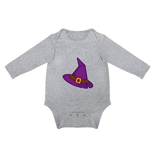 Lplpol Sombrero de bruja para Halloween Beb de algodn de manga larga mono mono para unisex beb nios nias, 0sx7z2ro2fhd