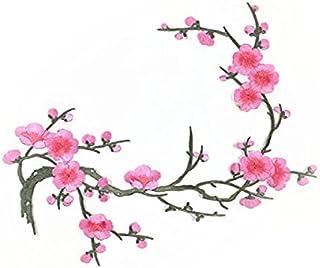 8d3e95f58d0 ROSENICE Applique Coudre Écusson Brodé Rose Prune Fleur Thermocollants  Patch sur Vetement