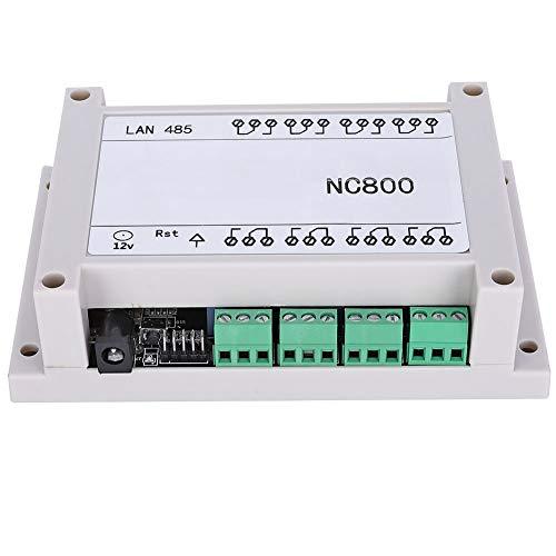 AC 250V 10A Mini Tablero de Control Remoto Estable TCP/IP Reingeniería Blanco/Negro Controlador de Relé RJ45 Ethernet de 8 Canales Control por Tableta Android Sistema de(black)