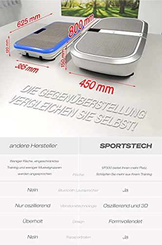 Sportstech Profi Vibrationsplatte VP300 mit 3D Wipp Vibrations Technologie - 8