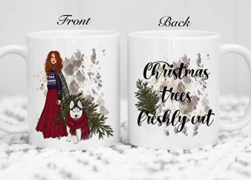 Taza de Navidad | Taza de Navidad personalizada | Taza de café | Taza de café | Divertida taza de Navidad | Taza de Navidad recién cortada | Taza de árbol